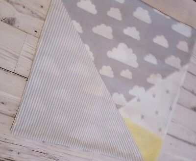Grey clouds nursery bedding chevrons stars cot pillow chair cushion cover stars