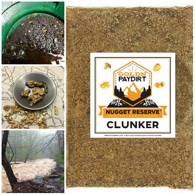 NUGGET RESERVE 'CLUNKER' Best Rich Gold Paydirt Panning Unsearched Sealed Bag