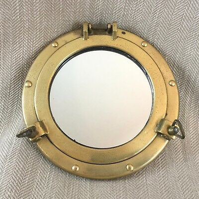 Vintage Brass Porthole Mirror Nautical Decor Maritime Ships