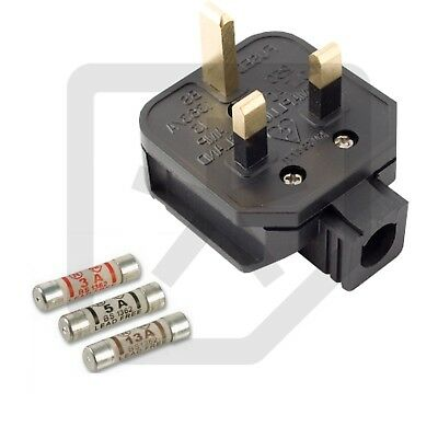 Permaplug 13 Amp 230V UK 3 Pin Heavy Duty Rubber Body Rewirable Plug 13A
