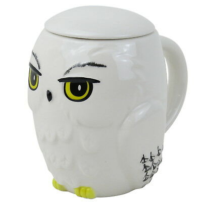 OFFICIAL Harry Potter Hedwig Shaped Novelty Mug with Coaster (NEW)