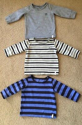 Cotton On Kids Baby Long Sleeved Striped Tops, Size 0 (6-12 Months)