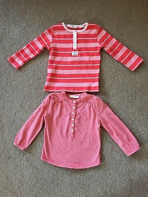Country Road Baby Girl Long Sleeve Cotton Tops, Size 1 (12 -18 Months)