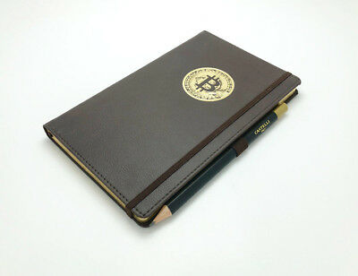 Bitcoin Castelli Ruled A5 Notebook Brown with Pencil