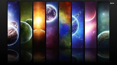 Solar System Planet Space Education Canvas Home Decor quality choose your size