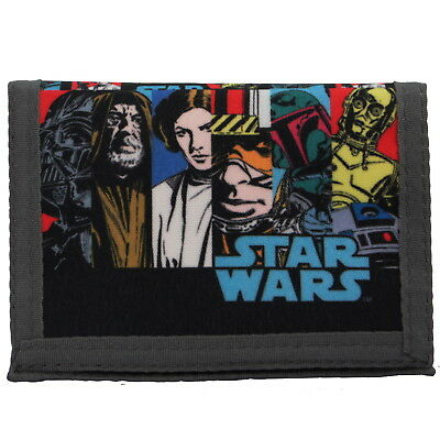 NEW OFFICIAL Star Wars Comic Characters Boys Kids Coin Pocket Money Wallet