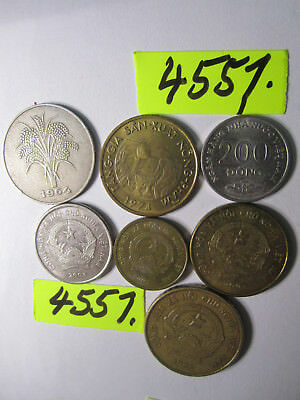 7  x assorted coins from    Vietnam    35 gms      Mar4557