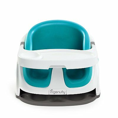 Portable Booster Seat Feeding Chair Toddler Ingenuity Blue Dishwasher Safe Tray