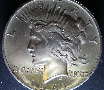 1921 PEACE DOLLAR, High Relief, Great Strike, Pursued Key Date 1st Year Issue!