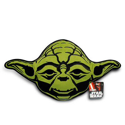 NEW OFFICIAL Star Wars Yoda Shaped Classic Retro Plush Soft Cushion Pillow
