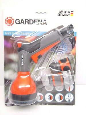 "GARDENA Multi Sprayer Set 13mm (12mm 1/2"") Hose + Tap Fittings Made in Germany"