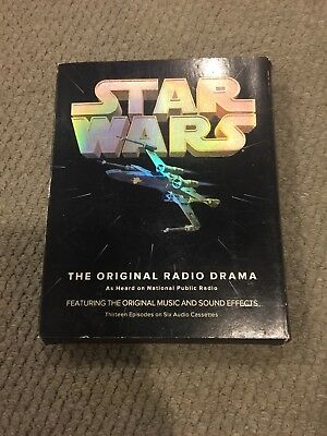 Star Wars Original Radio Drama NPR 13 Episodes 6 Audio Cassettes -Vintage- Used