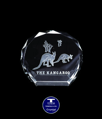 "[SPECIAL OFFER] ""Kangaroo"" Austrian Crystal Figurine/Paperweight was AU$90.00"