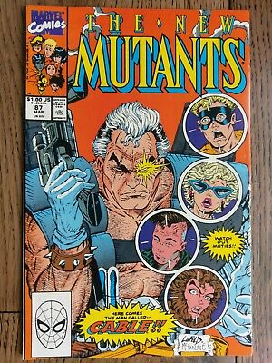 New Mutants #87 No Reserve! 1st Cable! Deadpool 2 Coming Soon.  Rob Liefeld!