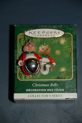 Hallmark Miniature Ornament -- Christmas Bells -- 7th in Series -- Mouse 2001