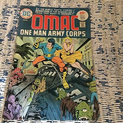 DC Comics Omac One Man Army Corps issue 6 1975 Jack Kirby Crime Cabal