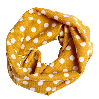 Kids Baby Girls Boys Snood Scarf Bib Scarves Dots Shawl Neckerchief 1-10T