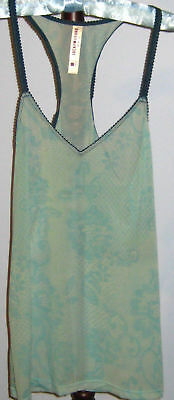 New LUCKY BRAND Size M Green Floral Camisole