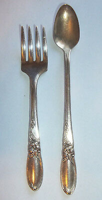 Oneida Community WHITE ORCHID  Baby Fork & Infant Feeding Spoon