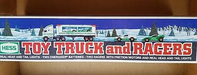 1997 Hess Toy Truck and Racers - New in Box