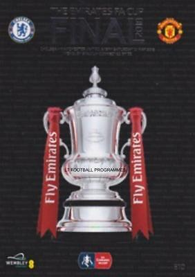 * 2018 FA CUP FINAL PROGRAMME - MANCHESTER UNITED v CHELSEA (19th May 2018) *