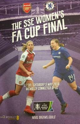 * 2018 WOMENS FA CUP FINAL PROGRAMME - ARSENAL v CHELSEA - 5th May 2018 *