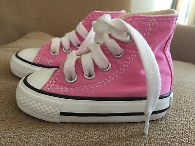 38b39508180d CONVERSE BABY GIRLS  Infant Chuck Taylor All Star Hi Top - Pink - 2 Infant  -  19.99