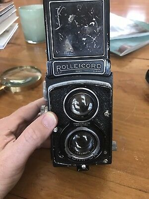Earlier Rolleicord For Parts Or Display. With Zeiss Triotar
