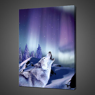 Howling Wolf Canvas Print Picture Wall Art Home Decor Free Fast Delivery