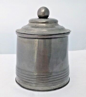 Antique Victorian Pewter Lidded Caddy or Canister James Dixon & Sons 1835 - 1841