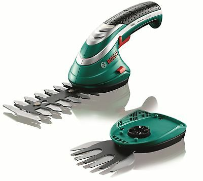 Bosch Cordless Edging and Shrub Shear Isio Set battery, charger, edge shear soft