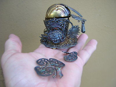 Signed Antique Gold Sterling Silver Ornate Chinese Japanese Item Ornament?