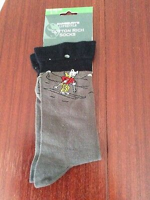 Rupert bear adult size 6-11 socks