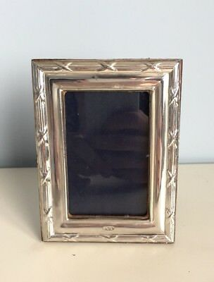 Solid 958 Britannia Silver Wooden Backed Photo Frame