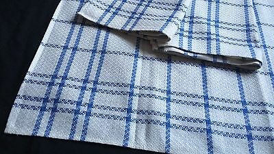 3x old unused blue checkered metis kitchen Towels