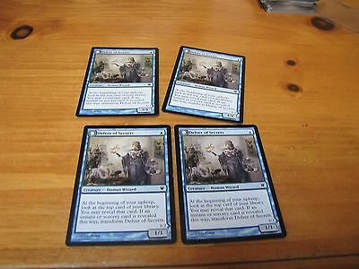4 Delver of Secrets  Innistrad   MN To GOOD ConditioN