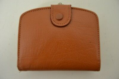 VINTAGE 1960s WOMENS BROWN LEATHER PURSE WALLET ENGLISH MADE