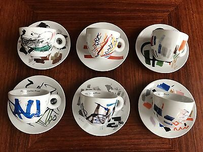 "illy CAPPUCCINO collection ""Pen Tests"" by PADRAIG TIMONEY, 6-teilges Set, NEU!"