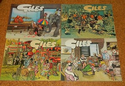Four Giles Annuals numbers 32, 34, 35 and 36 from 1977 - 1982