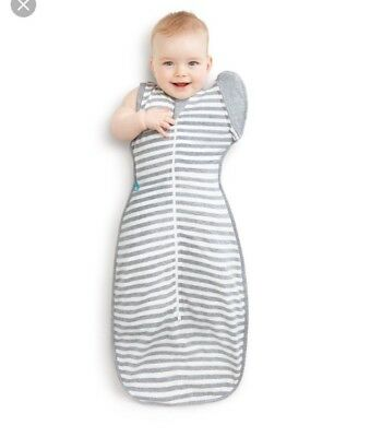 2 X Love To Dream Swaddle Up 50/50 Baby Swaddles 0.6 Tog Size Large Grey White