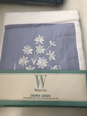 Wamsutta Purple Freesia Shower Curtain 70 X 72 Brand New In Package