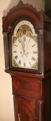 "Antique Mahogany Moon Dial "" Gloucester ""  Longcase / Grandfather Clock"