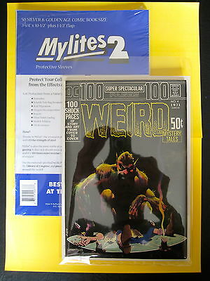 "MYLITES2 x 200 - SILVER/GOLDEN AGE SIZE 7.75'' x 10.5"" - FOUR PACKS OF MYLITES."