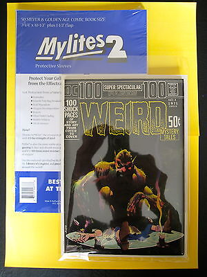 "MYLITES2 x 50.SILVER/GOLDEN AGE SIZE 7.75'' x 10.5"".MYLAR COMIC BAGS/SLEEVES."