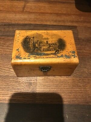 Antique c.1900 Mauchline Ware Trinket box,  Dunkeld Cathedral