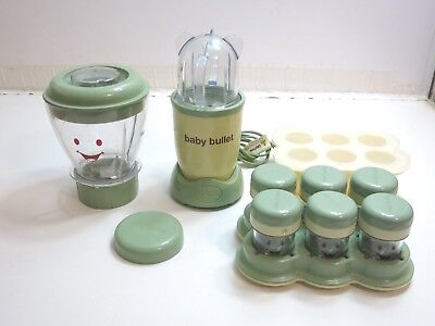 Nice Lot Of Baby Bullet By Magic Bullet Baby Food Maker Blender W/ Accessories