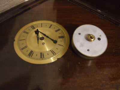 8 Day Clock Movement, Dial & Hands. (Timepiece Only) Good Working Order