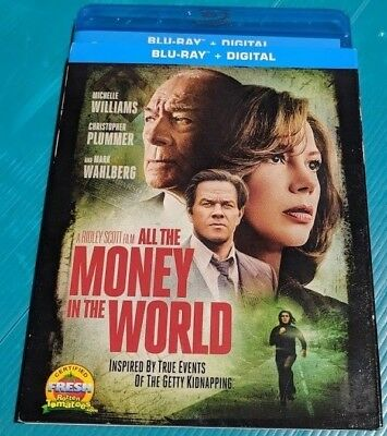 NEW All The Money in the World Blu-ray & DVD NO DIGITAL BLUERAY bluray movie