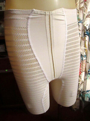 9f02e7768f5c SMALL Vtg Vented Full Panty mesh Panel Girdle Garter Loops HOLLYWOOD  VASSARETTE