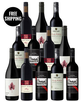 Red Wine Premium Brands Mix (12 Bottles)